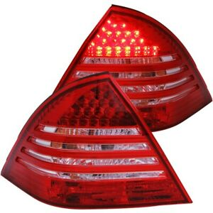ANZO 221151 Taillights Red/Smoke For 2001-2004 Mercedes Benz C Class W203