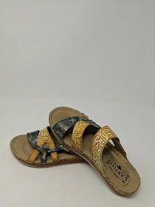 Spring Step L'ARTISTE  Leather  Open Toe Sandal  38  US 7.5-8