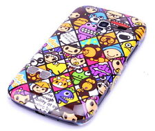 Hülle f Samsung Galaxy Ace 2 i8160 Schutzhülle Tasche Case Cover Comic Emoticons