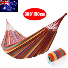 Double Cotton Air Chair Hammock Hanging Swinging Camping 300x150cm Outdoor 200KG