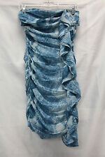 Guess Blue Strapless Dress Size 4 Excellent Used Condition Cocktail Party Club