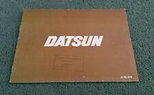 June 1978 DATSUN UK RANGE BROCHURE CHERRY SUNNY VIOLET BLUEBIRD LAUREL 280C 260Z