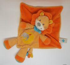 Doudou lion TEX plat losange oiseau orange jaune bleu éléphant CARREFOUR NEUF