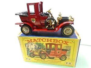 1969 MATCHBOX-'Models of Yesteryear' Y-11 -1912 PACKARD LANDAULET w box