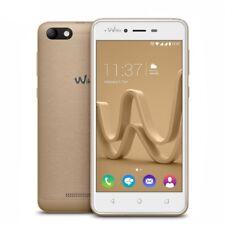 """Teléfonos móviles libres de color principal oro con conexión 3G 4,0-4,4"""""""