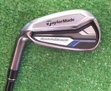 TaylorMade SpeedBlade Iron Set 4-PW AW Golf Clubs Graphite Stiff LEFT USED