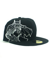 New Era Thor 59fifty Custom Fitted Hat Size 7 1/4 Marvel Studios Avengers Black
