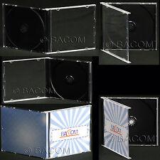 50 Custodie CD Singole Nere - Jewel BOX Nero per 1 CD/DVD Spedizione Gratuita