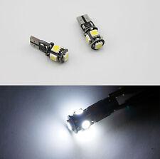 2x T10 5 LED Bulb Canbus for AUDI A2 A3 8L 8P A4 B5 B6 B7 8H A6 4B 4F A8 D2