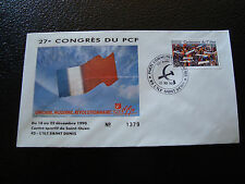 FRANCE - enveloppe 21/12/1990 27e congres du PCF (cy7) french (B)