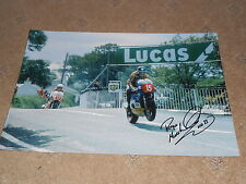 Roger Marshall Signed Large Photo Isle of Man TT 18x12 Very Rare.