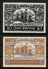 Notgeld Kindelbrück 10 Pfennig und 25 Pfennig von 1920