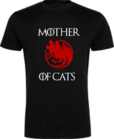 Mother of Cats T-Shirt - Game of Thrones, Movie, TV, Geek, Stark, Dragon Xmas
