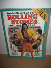 OLD ROLLING STONES THE LAST TOUR MAGAZINE ROCK MUSICAL ARTIST