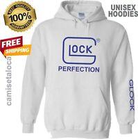 GLOCK PERFECTION  FULL LOGO HOODIE -  SOFT SWEATSHIRT CUSTOM HOODIE