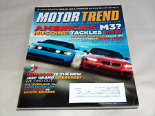 Motor Trend October 2010 Car Truck Magazine America's M3, Mustang Tackles BMW