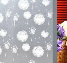 Waterproof Glass Bathroom Window Film Sticker with Dandelion pattern 47''x80''