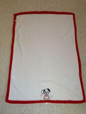 KIDSLINE 101 DALMATIANS DALMATIONS BABY BLANKET DISNEY WHITE RED DOG PLUSH