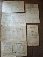 Vintage 1920s 1930s Lot Report Card Antique Public School Kansas