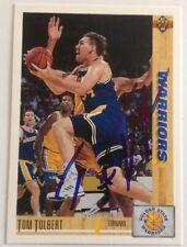 Tom Tolbert Hand Signed 1992 Upper Deck Card Golden State Warriors RACC