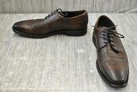ECCO Calcan Plain Toe Tie Oxford Dress Shoes, Men's Size 12/EU 46, Brown
