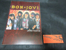 Bon Jovi Japan Tour Book 1985 with A Ticket Stub John Richie Sambora