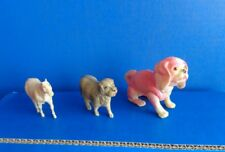 3 VINTAGE CELLULOID ANIMAL TOYS- 2 DOGS 1 HORSE