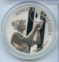 2001 - 2011 September 11th 9/11 Commemorative Silver National Medal - RY416