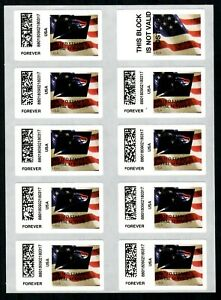 APC / CVP / ATM #CVP108 Sheet of 9+1 USPS Eagle Overprint ERRORS, Flag stamp