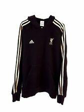 Liverpool Hoodied Top. pequeño Adultos. Adidas. Adultos Negro Manga Larga Fútbol.