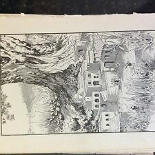 A1c ephemera old undated book plate the king's palace reached the size of a doll