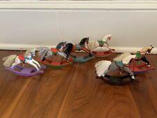 Hallmark Keepsake Ornament Rocking Horse Series Lot Of 6: 1987-1996