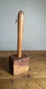 Vintage Wooden Mallet Carpentry Tool