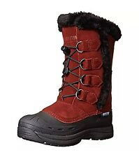 Baffin Womens Winter Boots Chloe Red Suede Insulated Boots Shoes 6