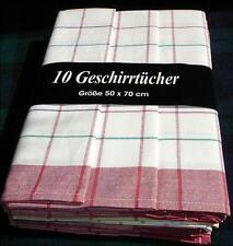10 x Geschirrtuch 50x70 rot Gastro Hotel Bistro Party Fest Koch Bäcker Metzger