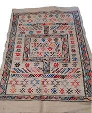 Moroccan Rug Carpet Kilim Kelim Berber Handmade Wooven Atlas Wool Authentic New