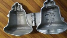 """ANTIQUE PEWTER LIBERTY BELL ICE CREAM MOLD #473 --""""JULY 4 1776""""---"""