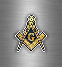 Sticker car moto biker decal bumper flag masonic freemason emblem illuminati
