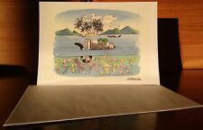 Kliban Cat Collectible Greeting Card with Envelope Vacation Cat Unused