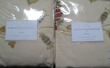 "2 POTTERY BARN 63"" MARGARITTE EMBROIDERED DRAPE~NEW IN PACKAGE"