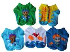 Bubble Guppies Toddler 5pk Splash Socks Gil Goby Nonny Nickelodeon Mermen Crab