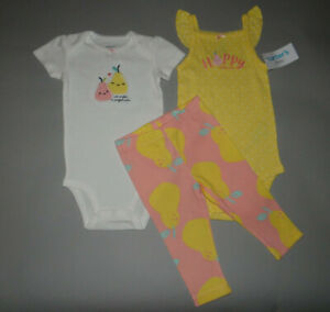 NWT, Baby girl clothes, 6 months, Carter's 3 piece set
