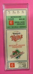 1987 World Series Ticket Game 6 MLB - Minnesota Metrodome Twins vs. St. Louis