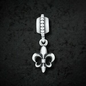 Genuine Pandora Silver French Lily / Fleur De Lis Charm 790576 Mint & Retired