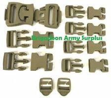 Molle Repair Kit,16 Dark Tan Buckles Nsn 8465-01-465-2080, Coyote Brown, Molle 2