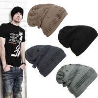 Chic Unisex Men Women Warm Winter Knit Ski Beanie Skull Slouchy Oversize Cap Hat