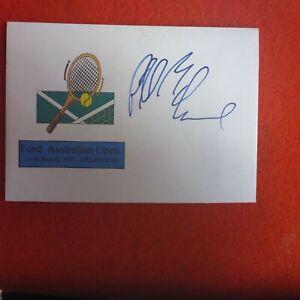 PATRICK MCENROE  HAND SIGNED 1997 AUSTRALIAN OPEN TENNIS  COVER