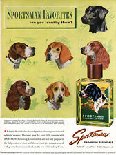 Sportsman Shaving Lotion JOHN ATHERTON Spaniel FOXHOUND Setter RETRIVER 1947 Ad