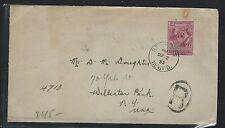 NEWFOUNDLAND  (P0408B) 15C GILBERT ON 1933 COVER TO USA