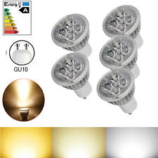 5X GU10 4W 110V 320-360LM Dimmable Warm White 4 LED Spot Light Lamp Downlight
